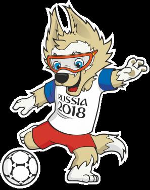 2018 fifa world cup logo mascot zabivaka logo fifa com vector
