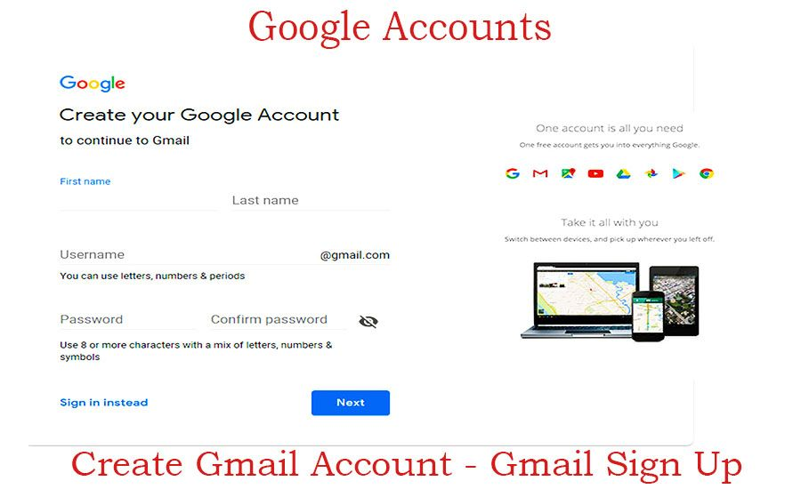 Gmail Sign Up How To Create Gmail Account Google Accounts Trendebook Gmail Sign Up Gmail Sign Gmail