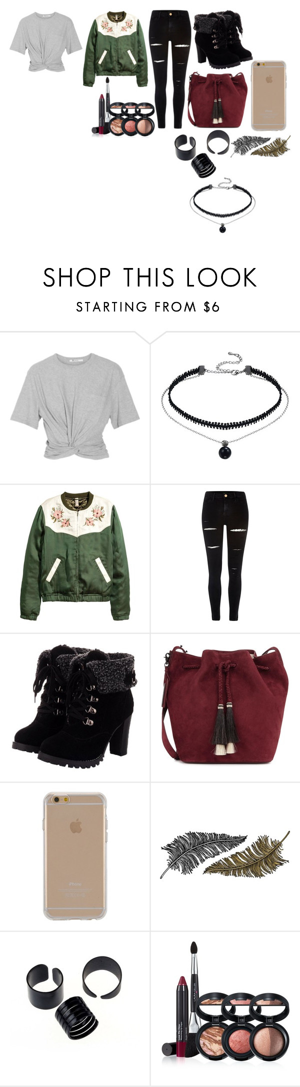 """""""Untitled #73"""" by gracefid ❤ liked on Polyvore featuring T By Alexander Wang, River Island, Loeffler Randall, Agent 18, Paperself and Laura Geller"""