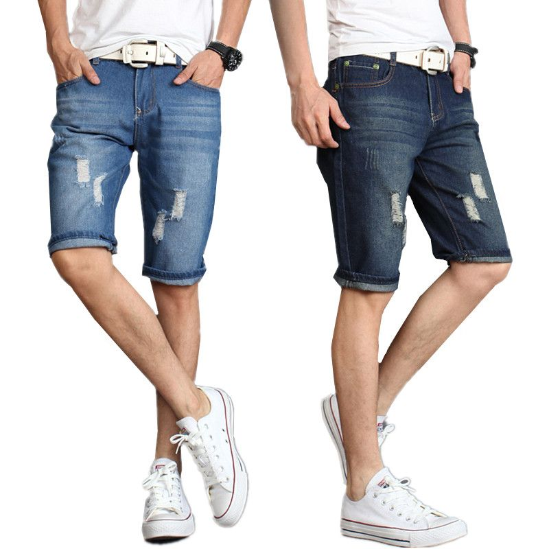 Men's shorts men 2017 new Summer male casual  denim shorts cotton size 28-38 Bull-puncher knickers
