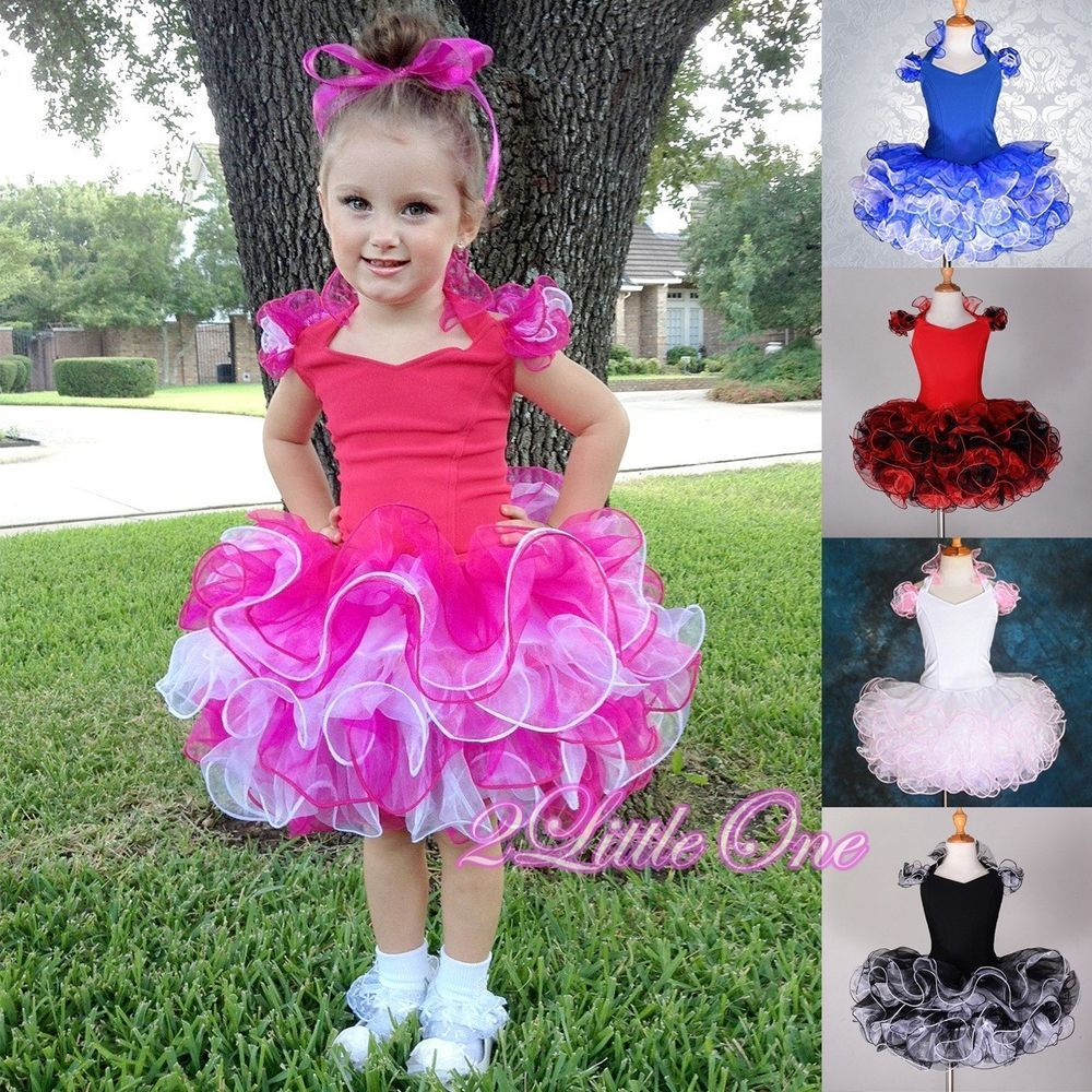 2 pcs cupcake halter national pageant dress diy shell toddler size