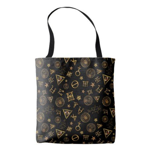 ed577dea4a M.A.C.U.S.A. Magic Symbols And Crests Pattern Tote Bag