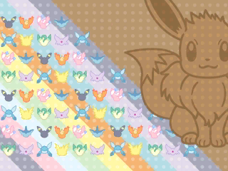 Upscaled versions of the Eeveelution box wallpaper from X and Y