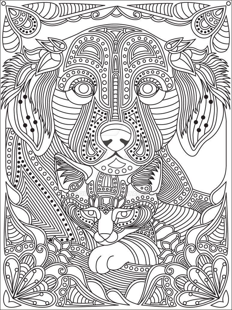 Gst Kolorowanka Koty I Psy 10 Podgd Por Quamiya Dog Coloring Page Cat Coloring Page Mandala Coloring Pages