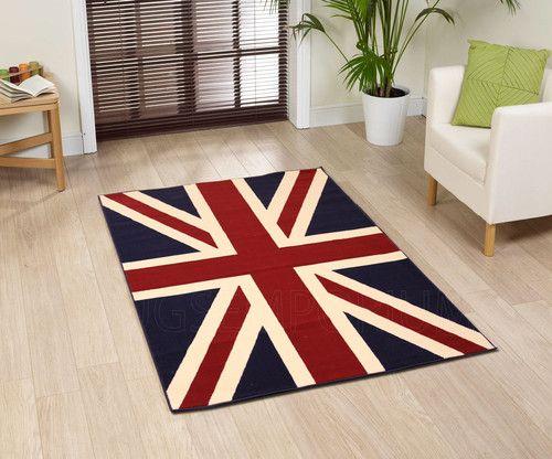 BRITISH FLAG RUG Union jack rug, British decor, Union jack