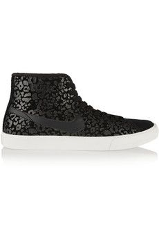 Nike Primo Court leopard-print suede high-top sneakers | NET-A-