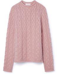 8352930e65f9 Women s White Flared Sleeve Cashmere Turtleneck Sweater