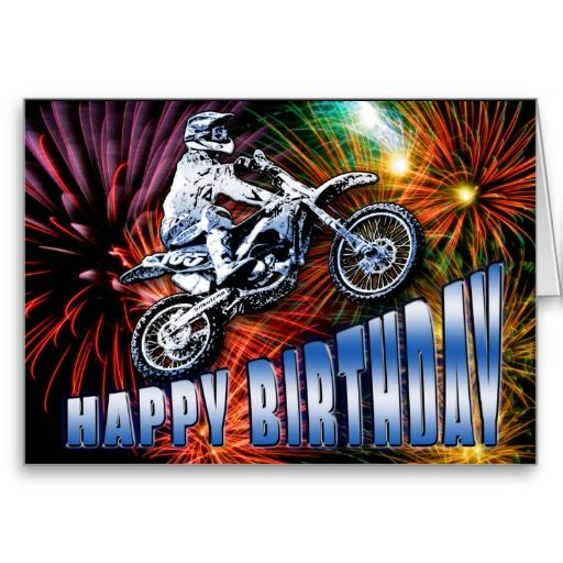 A motocross stars birthday card ZAZZLE GIFTS Todays Best and