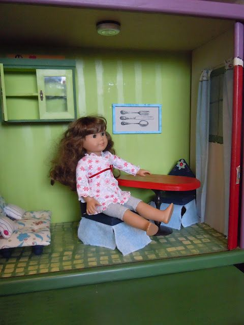 Love How She Repurposed An Entertainment Center For An AG Dollhouse   Lots  Of Ideas And Tutorials Here