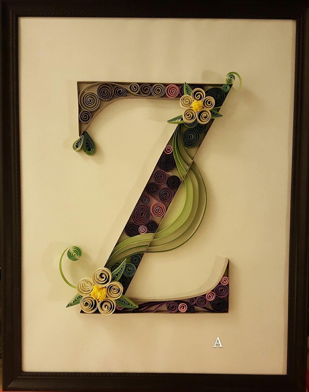 https://www.etsy.com/listing/458893310/quilling-wall-art-letter-z ...