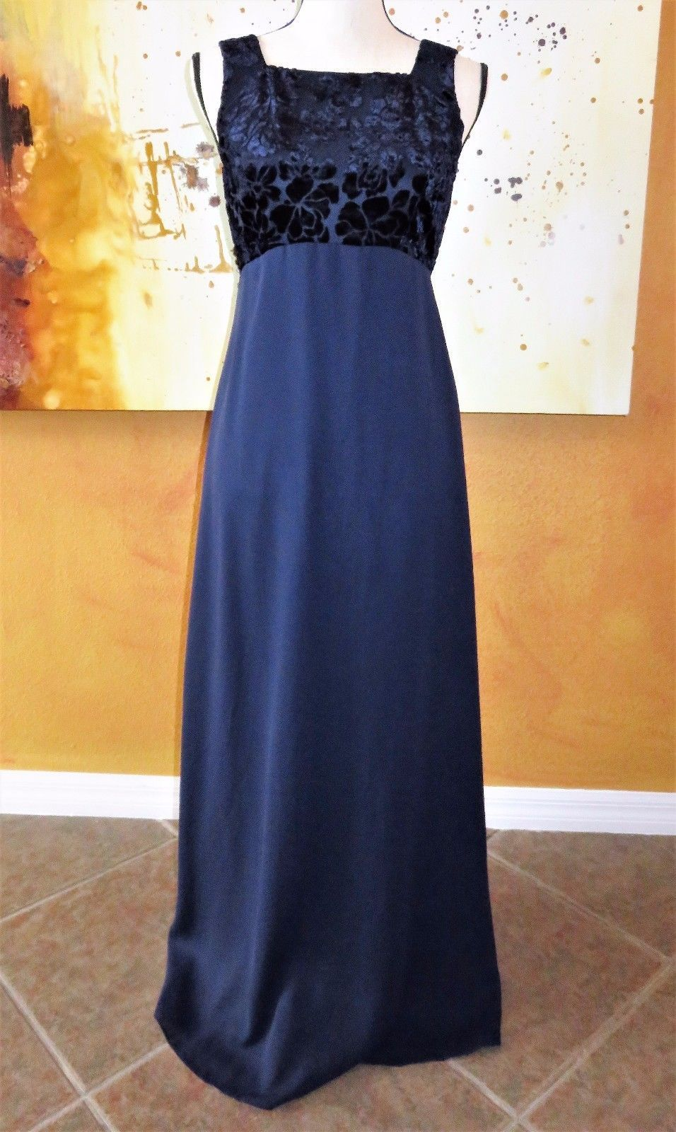 Cool rhapsody womens juniors velvet top prom dress long evening gown