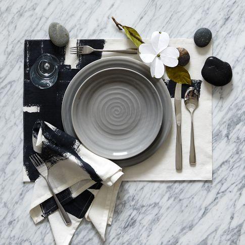 Beautiful grey dinnerware from West Elm