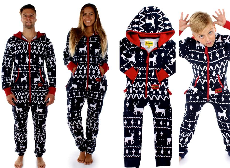 Tipsy Elves Fair Isle Blue Adult Jumpsuit | Stylo Collections Men ...
