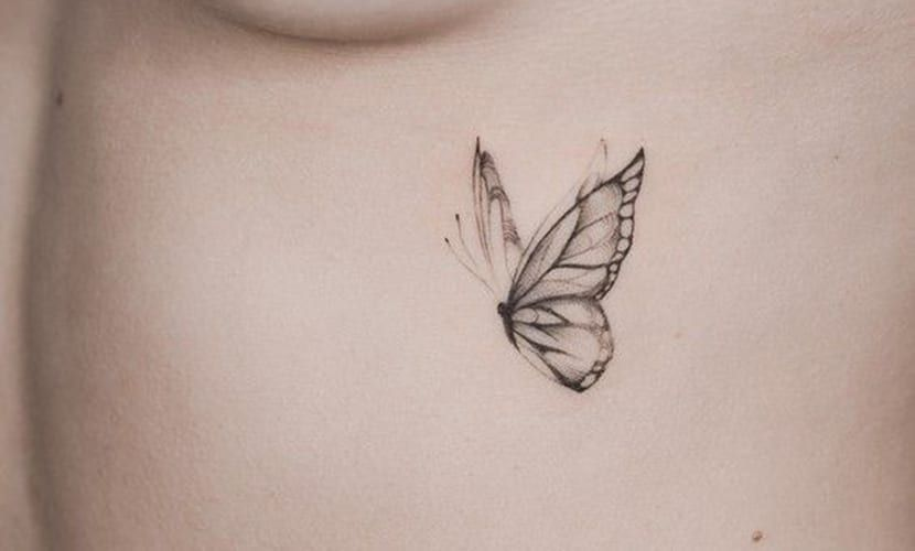 Tatuajes De Mariposas Delicadas