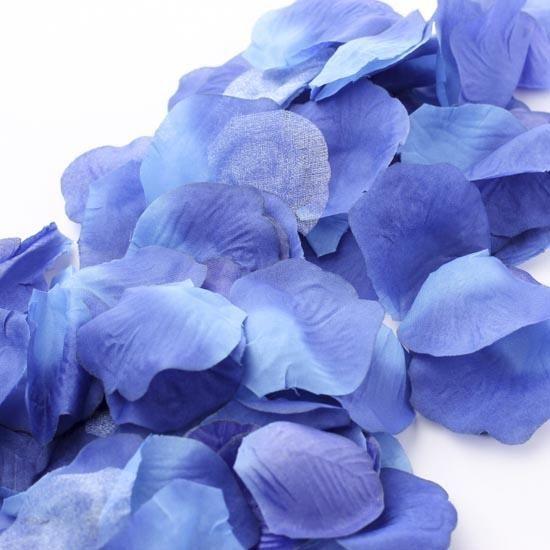 Rose Petals silk wedding table confetti Lavender Blue