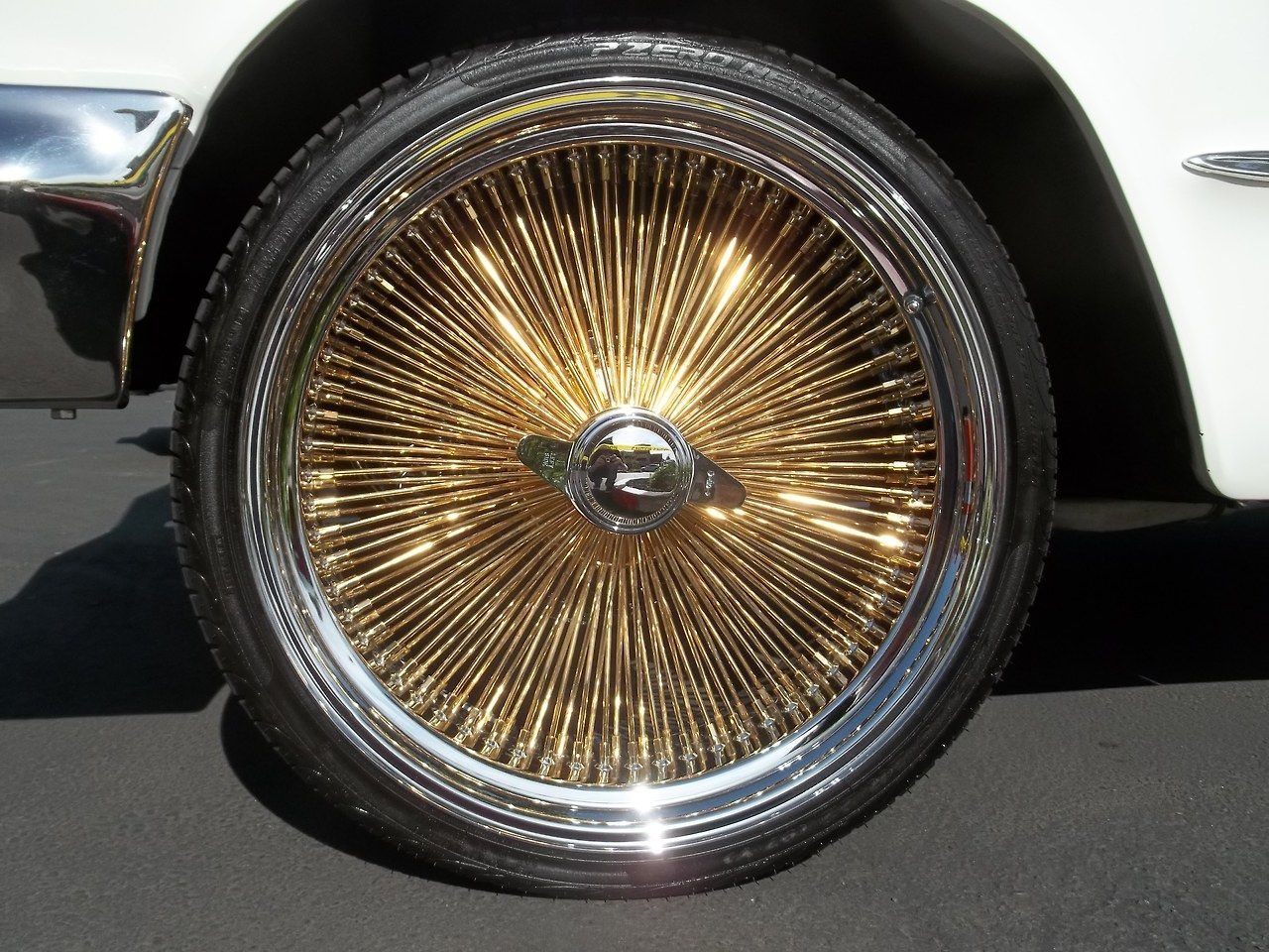 200 Gold Spoke On 64 Impala Wheels For Sale Gold Rims Car