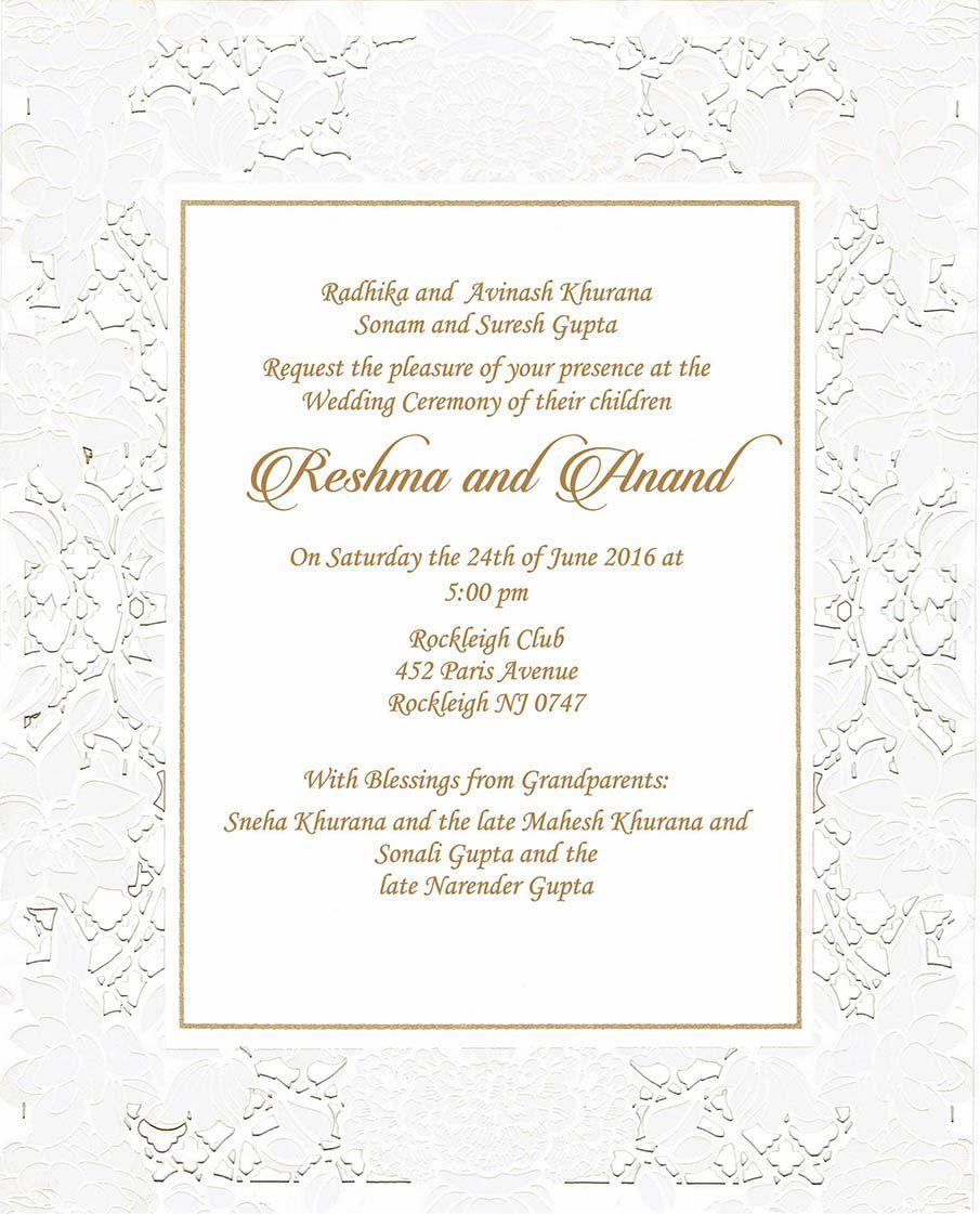 Wedding Invitation Wording For Hindu Wedding Ceremony Hindu Wedding Invitation Cards Wedding Invitation Card Design Wedding Invitations
