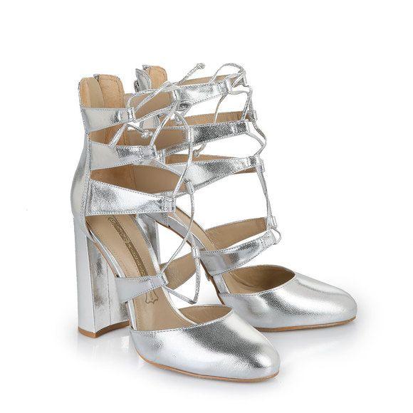 Schuhe silber buffalo