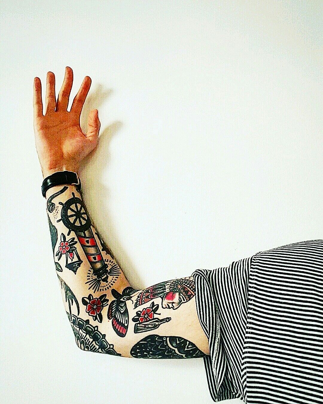 Traditional: Traditional Tattoo Sleeve #tattoo #sleevetattoo