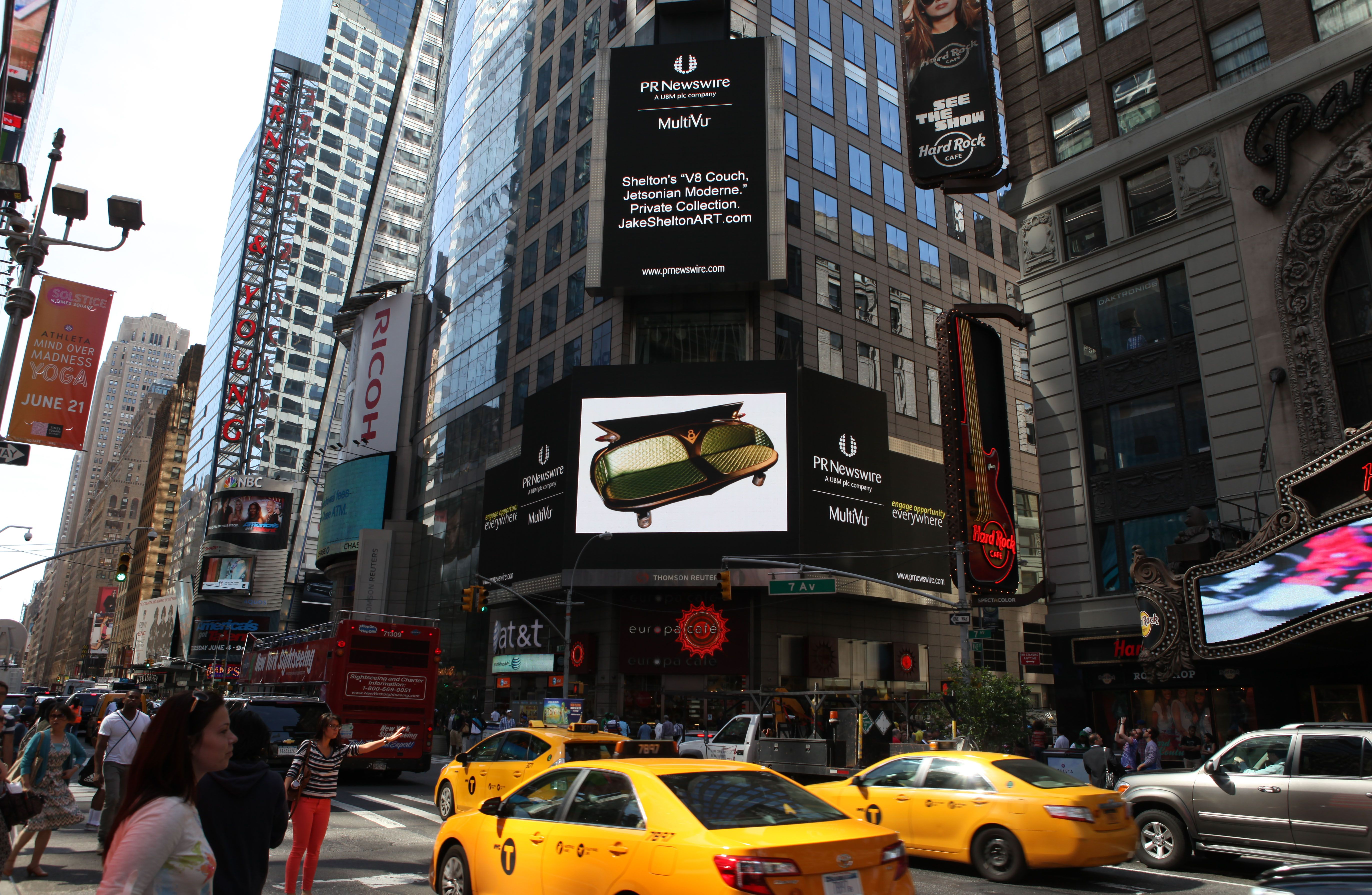 My Couch On The Times Square Megatron Yes This Is Real Times Square Square Landmarks