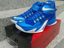 new products 82b10 81f1d Nike Zoom Soldier VIII 8 Blue Volt Sprite Men Basketball Shoes Sneakers New  - Boltr