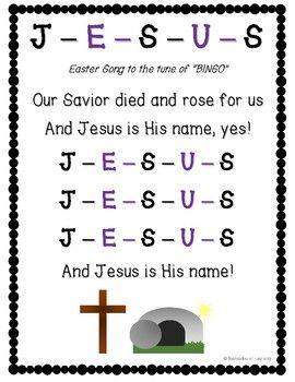 Download Holy Week Jesus Bingo Game & Song Lyrics for Lent & Easter ...