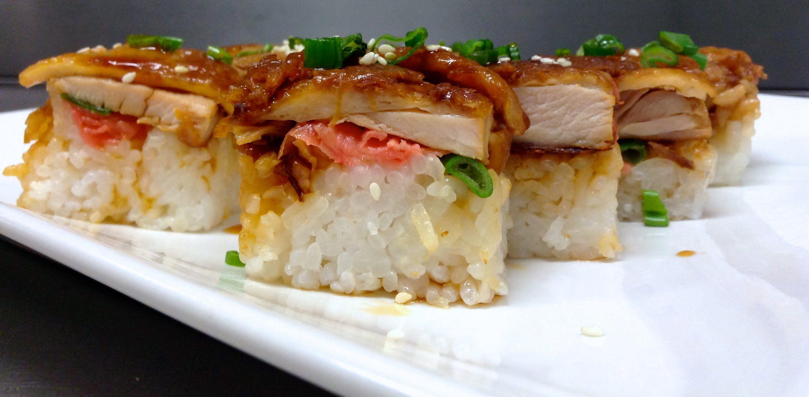 How to make chicken teriyaki sushi asian recipes how to make chicken teriyaki sushi forumfinder Gallery