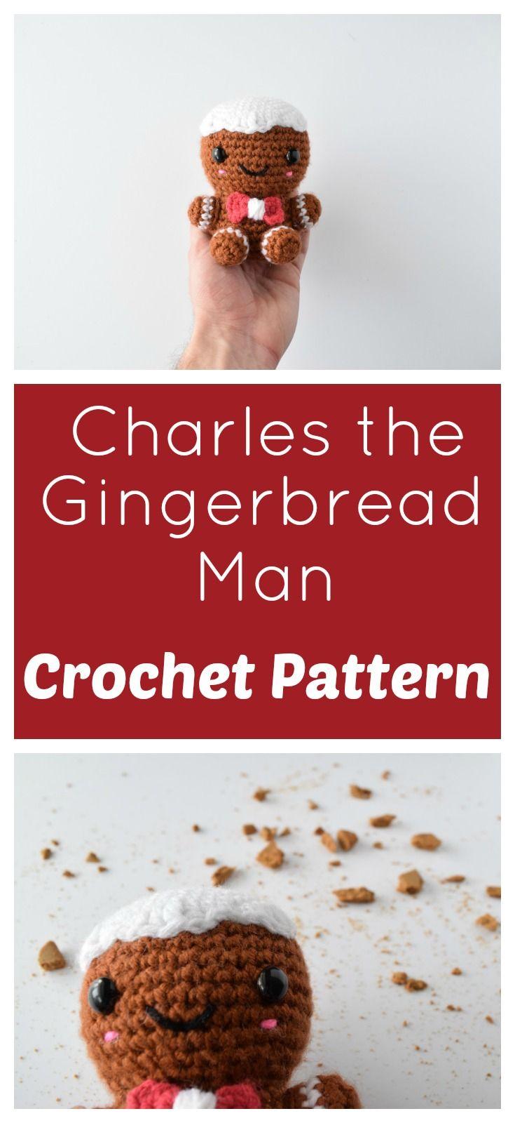 Charles the Gingerbread Man | Kostenlose häkelmuster, Stricken und ...