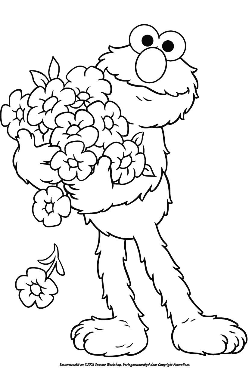 sesamstraat kleurplaat - Google zoeken | Coloring Pages | Pinterest ...