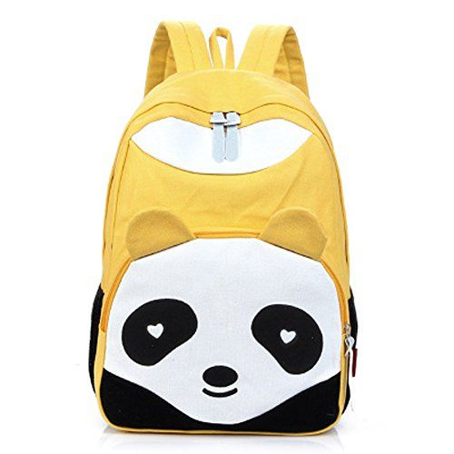 Canvas Cute Unisex Panda Design Backpacks 9 Colors (Yellow) Coofit http    d752cd45140d8