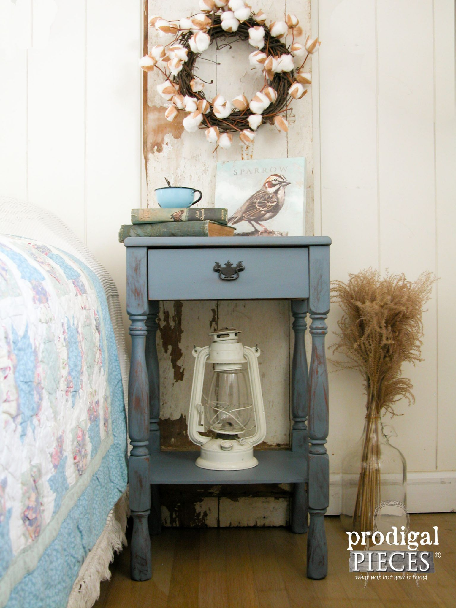 Modern Farmhouse Chic Nighstand Prodigal Pieces Shabby Chic