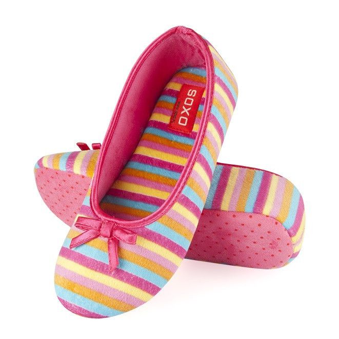 c5165fb41b Striped ballerina slippers – pink shades