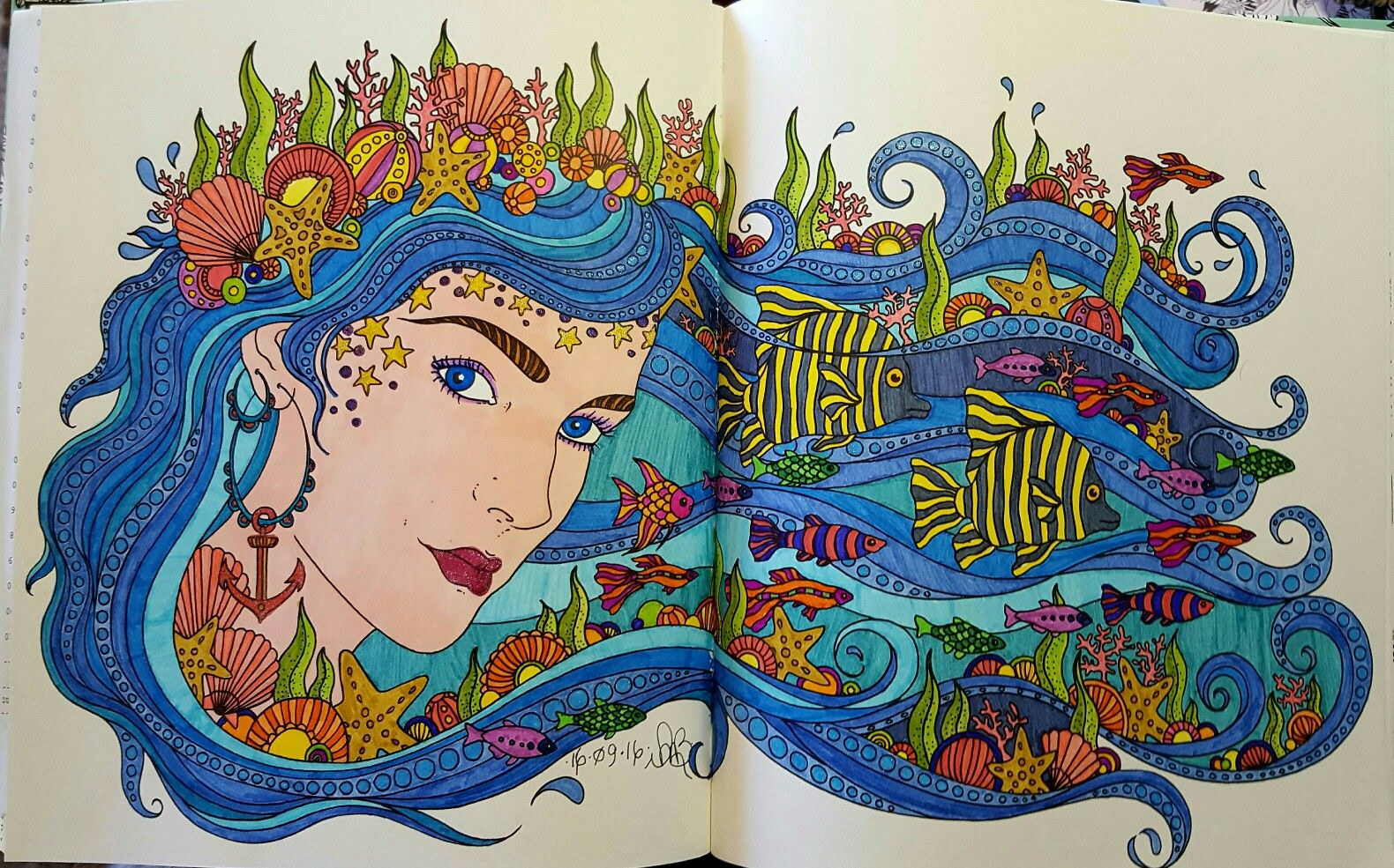 From Hanna Karlzon's Daydreams Coloring Book. Coloured by me.