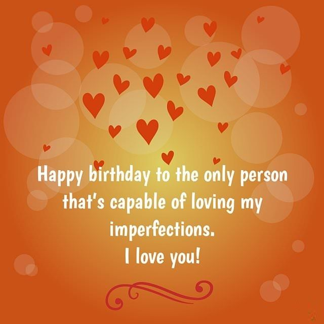 Happy Birthday To My Love Romantic Wishes For