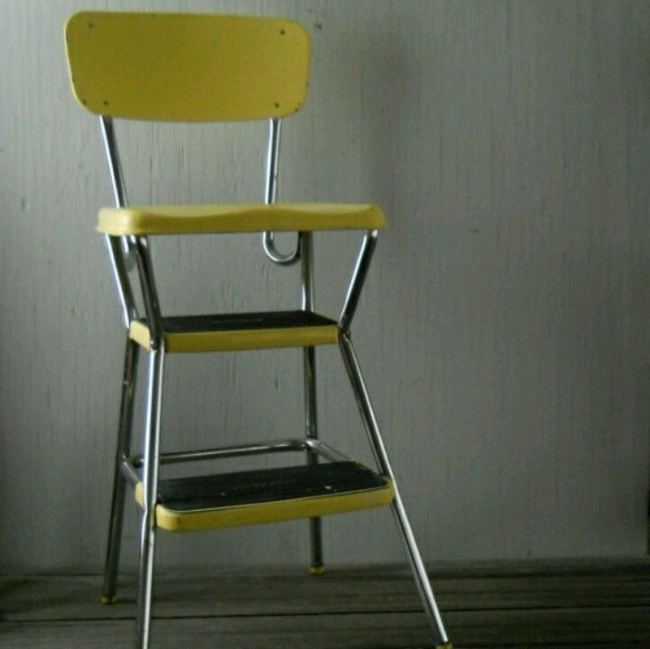 Before Picture Of A 1950 S Cosco Step Ladder That I Will Be