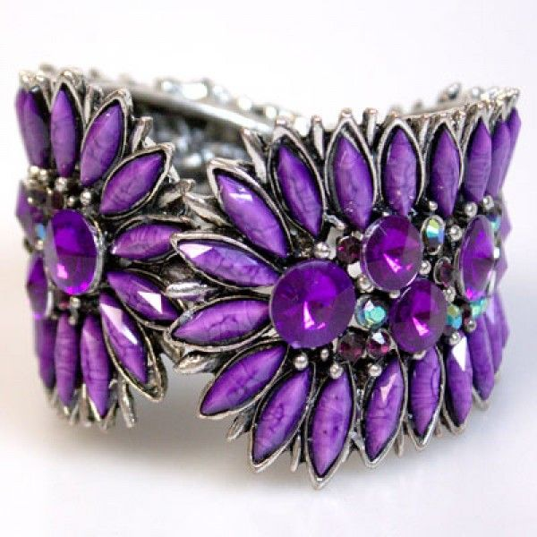 Purple Bracelets Home Vintage Hinged Bracelet