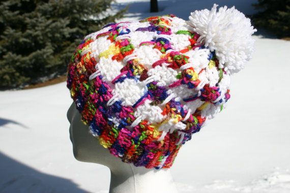 Hey, I found this really awesome Etsy listing at https://www.etsy.com/listing/210067289/kids-crochet-beanie-hat-multi-colored