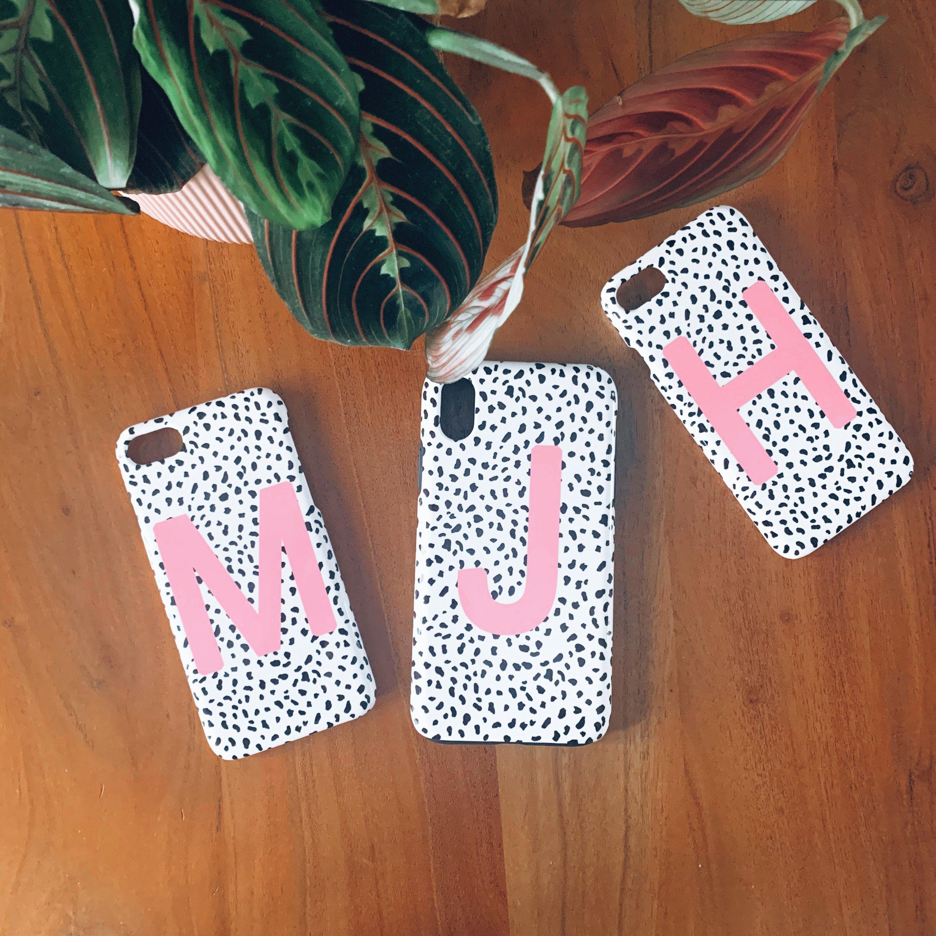 Pink Personalised Dalmatian Phone Case - iPhone SE (2020)