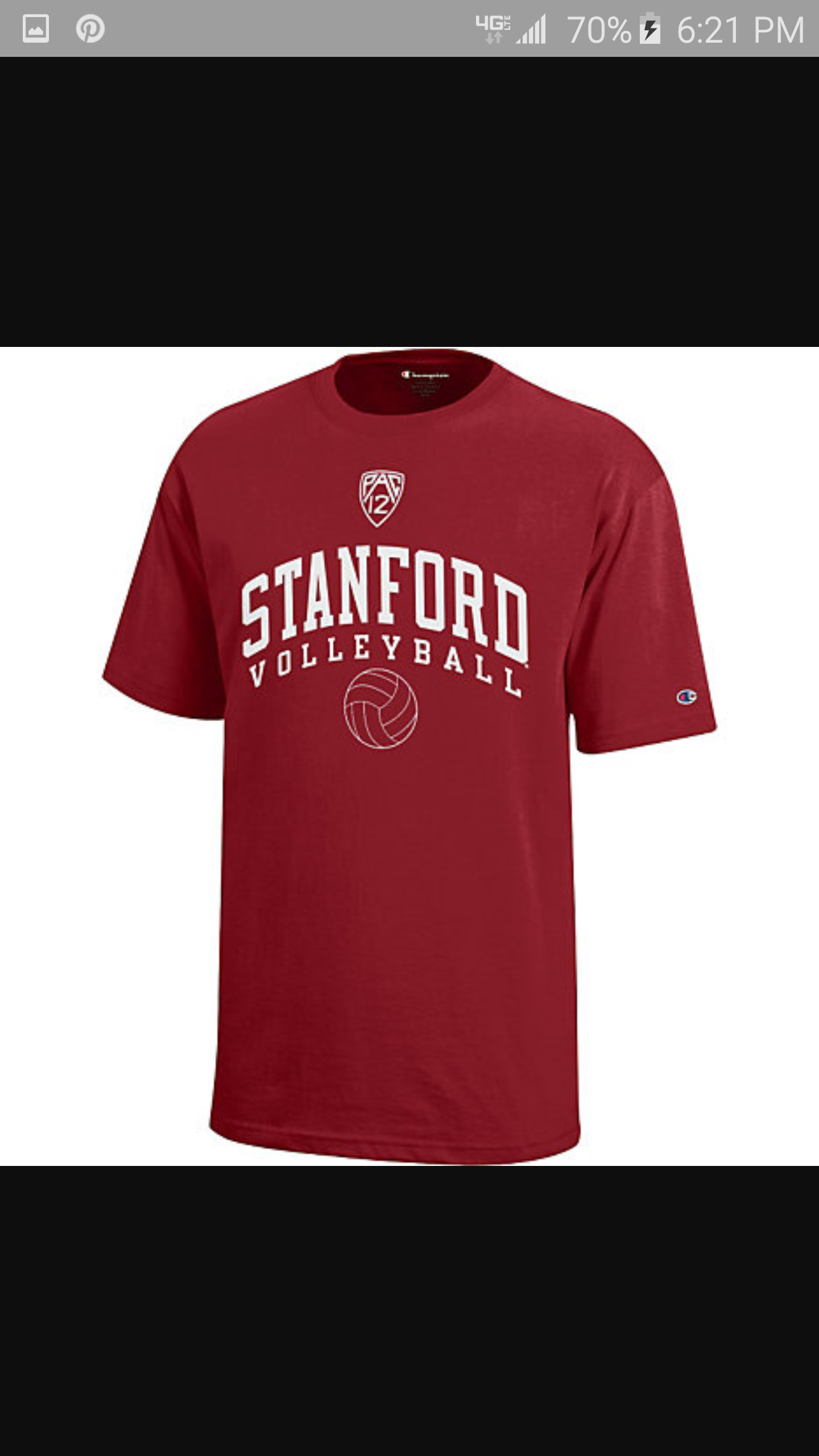 Volleyball Stanford Simple Mens Tops Mens Tshirts Volleyball