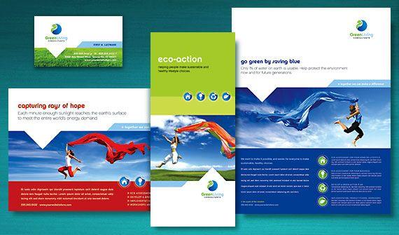Green Living Consultant Brochure Newsletter Postcard Flyer