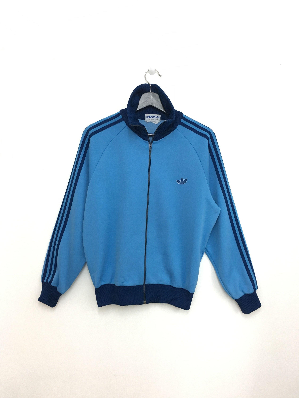 Rare Vintage Adidas Sweater Zipper Sky Blue Color Small Size Vintage Adidas Adidas Sweater Sweaters [ 3000 x 2250 Pixel ]