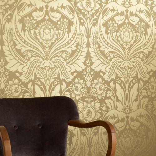 Graham \ Brown 50-026 Neo Barock Tapete gold - NEU Deko - goldene tapete modern design