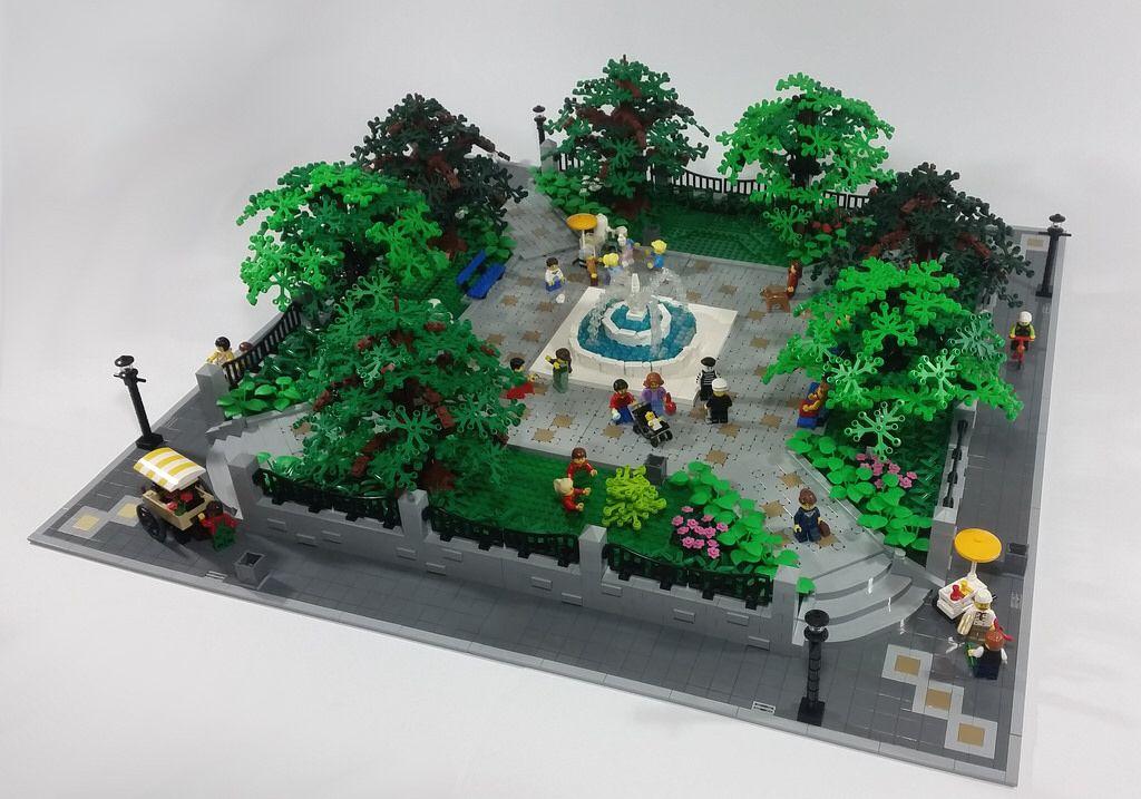 Modular City Park 9 | Lego Gardens | Lego universe, Lego ...