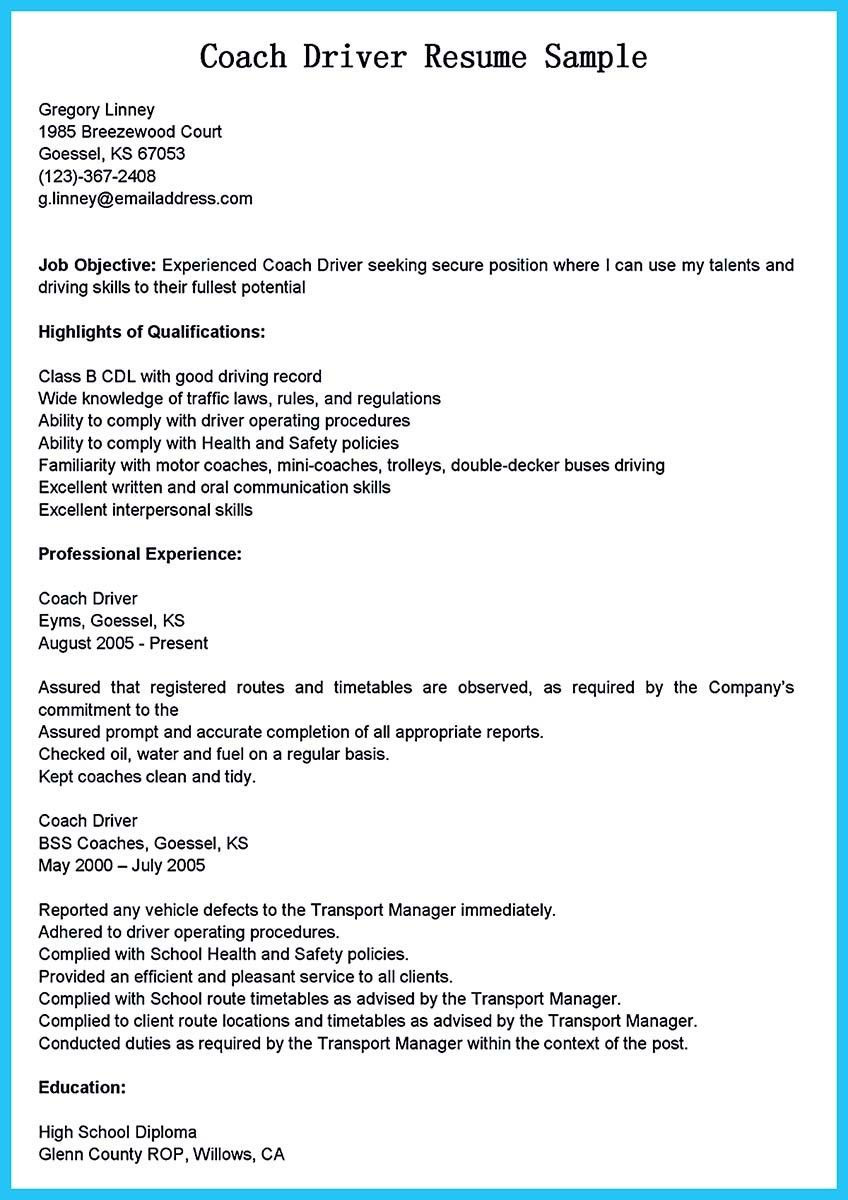 ... Bus Driver Resume To Gain The Serious Bus Driver Job, Check More At  Http://snefci.org/stunning Bus Driver Resume To Gain The Serious Bus Driver  Job