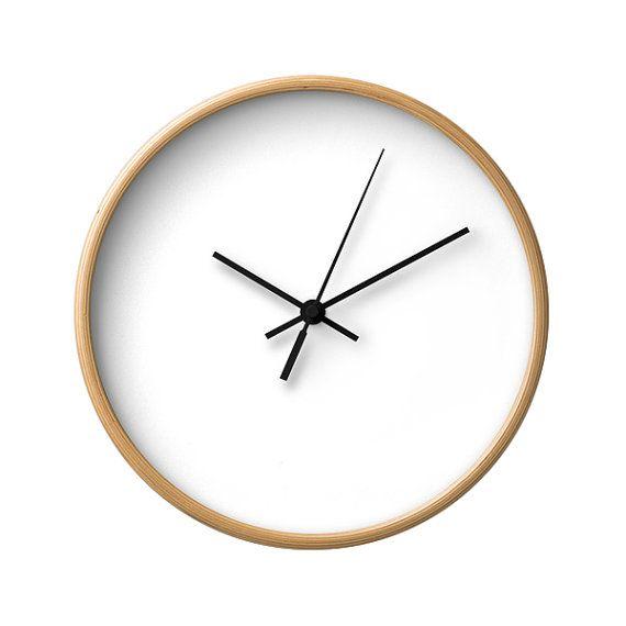 Weiße Wanduhr klassische Wanduhr moderne von LaChicHomeDecor Uhren