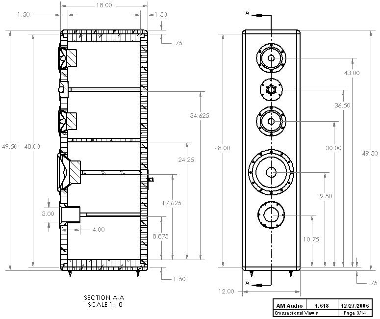 Diy 3 Way Hi Vi Tower Loudspeaker Project 1 618 Speaker Plans Speaker Projects Speaker Box Design