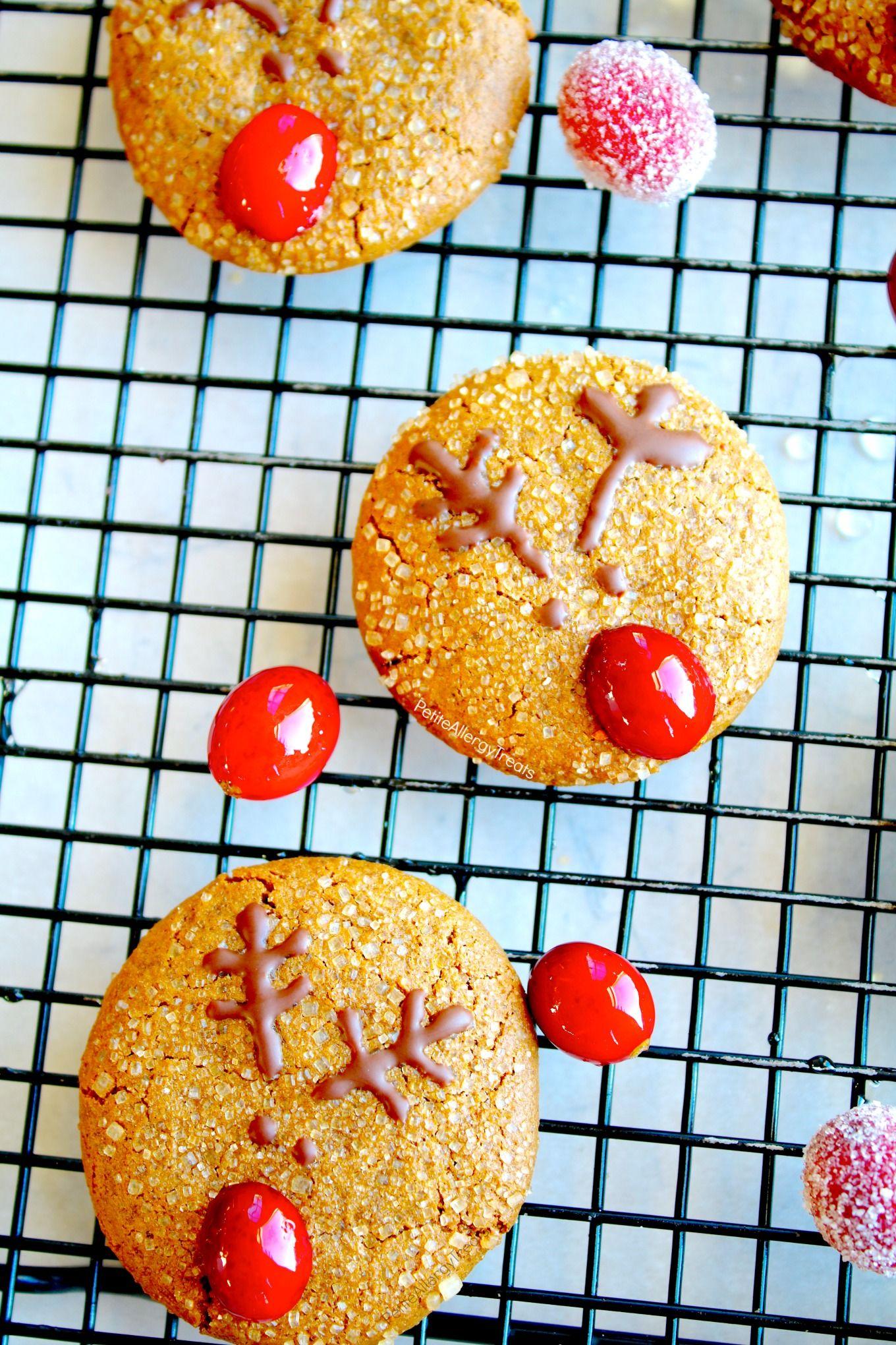 Gluten Free Reindeer Soft Gingersnap Cookies Vegan