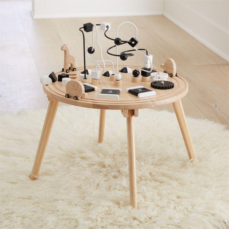 Wooden Activity Table Reviews Crate And Barrel Activity