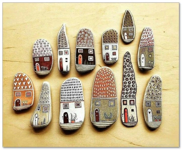 100+ DIY Ideas of Painted Rocks with Inspirational Picture and Words 70 - Home & Decor