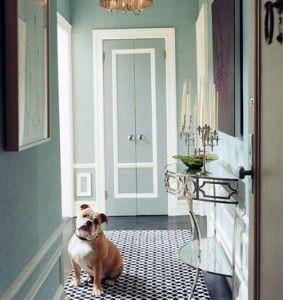 blue entryway domino